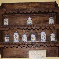 Antigüedades: MUEBLE Y COLECCION DE JARRONES. Lote 44351596