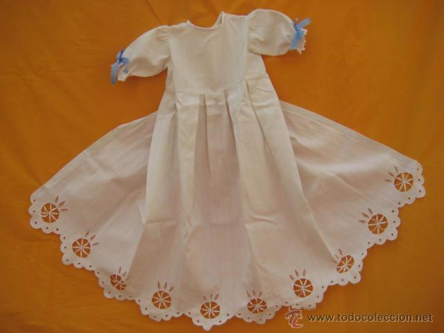 ANTIGUO FALDÓN : FALDÓN CON GRANDES BORDADOS (Antigüedades - Moda y Complementos - Infantil)