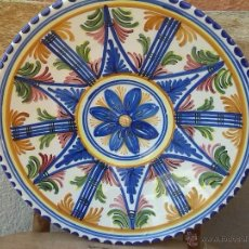 Antigüedades: ANTIGUO PLATO PINTADO A MANO Y FIRMADO.. Lote 44389471
