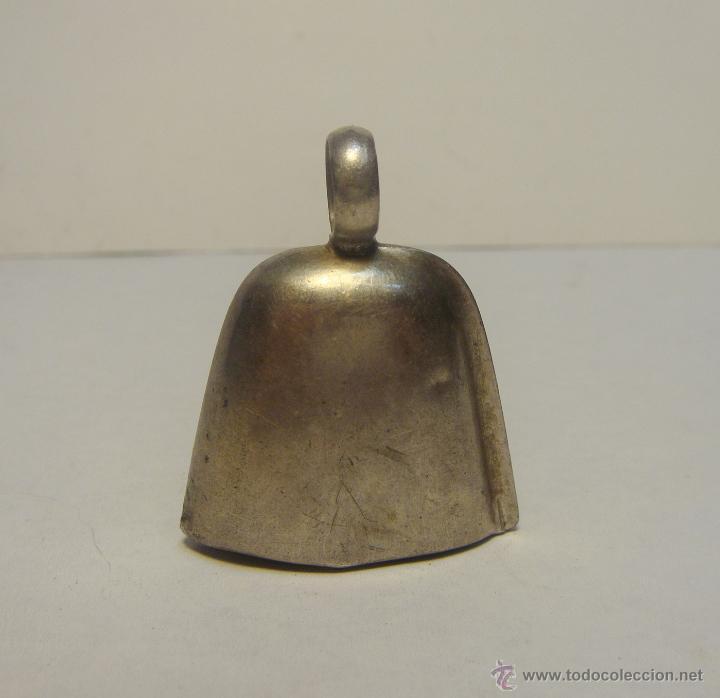 Antigüedades: Antiguo Sonajero o Campana para Bebes. Plata. Inscripción: Bebé - Foto 2 - 44405197