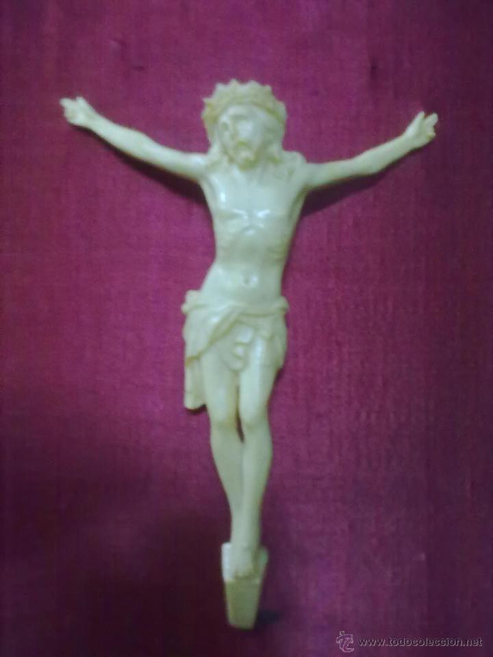 Antigüedades: CRISTO CELULOIDE ENMARCADO - Foto 2 - 44425570