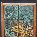 Antigüedades: SENSACIONAL PLAFÓN DE 10 AZULEJOS EN GRES PINTADOS DE LOS TALLERES DELS GERMANS SERRA. Lote 45858190