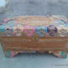 Antigüedades: ARCA ORIENTAL CON COLORES Y DORADO. Lote 44432574
