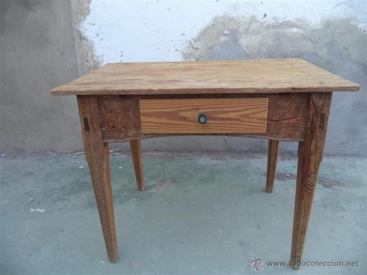 Mesa tocinera madera de pino rija comprar mesas antiguas for Mesas antiguas