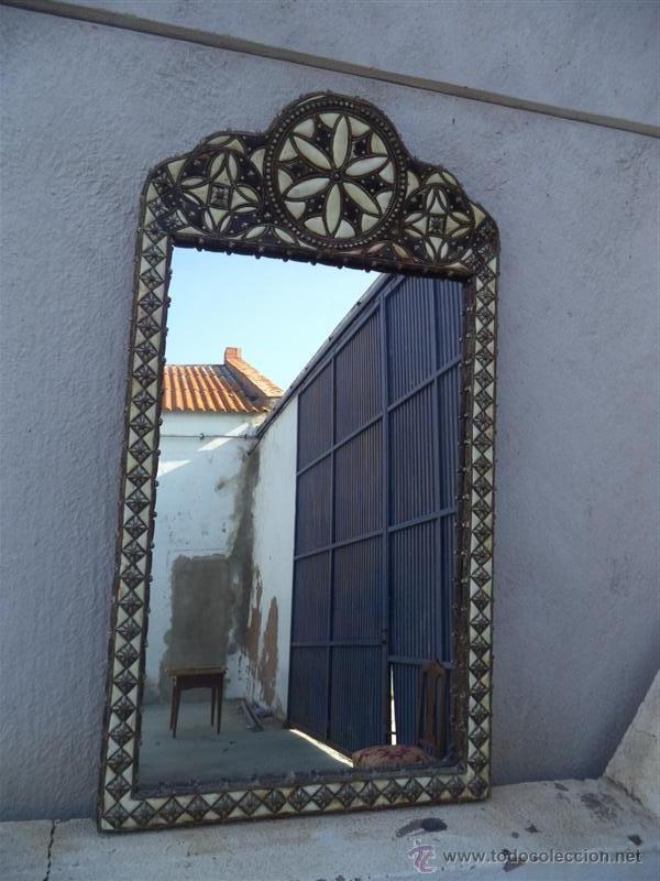 espejo grande arabe en esta o metal y hueso comprar