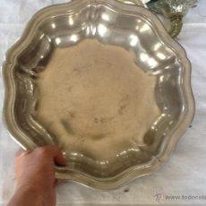 Antigüedades: ELEGANTE CUENCO 30 X 5 CM. ESTAÑO. FRANCIA.. Lote 44435420