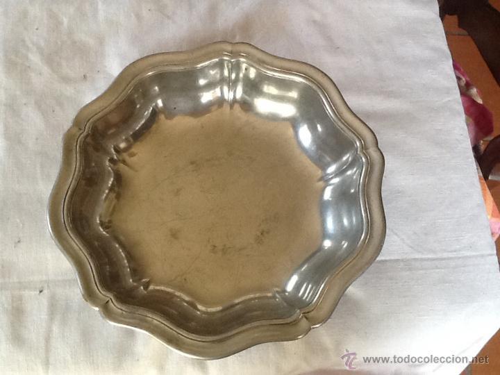 Antigüedades: ELEGANTE CUENCO 30 x 5 cm. ESTAÑO. FRANCIA. - Foto 2 - 44435420