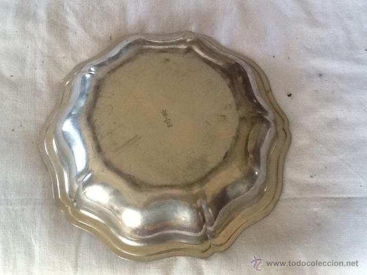 Antigüedades: ELEGANTE CUENCO 30 x 5 cm. ESTAÑO. FRANCIA. - Foto 3 - 44435420