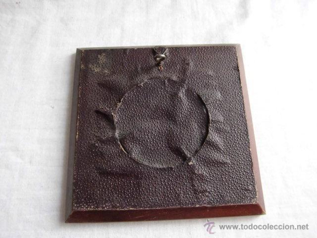 Antigüedades: PEQUEÑO MARCO CRISTAL OVALADO IMAGEN DE SAN JOSE - Foto 6 - 44438734