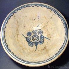 Antigüedades: SOBERBIO CUENCO CERAMICA DE PUENTE DEL ARZOBISPO XIX . Lote 44443967