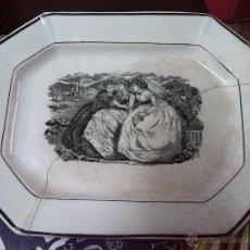 Antigüedades: ANTIGUA FUENTE DE CARTAGENA, ESCENAS BURGALESAS, SELLO INCISO Y TINTA. LAÑANDO DE EPOCA . Lote 44450709