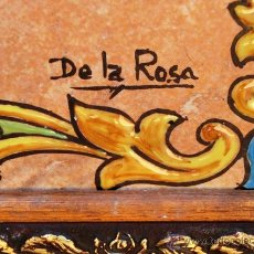Antigüedades: SIMPÁTICO AZULEJO FIRMADO. DE LA ROSA. GRACIAS POR NO FUMAR. ENMARCADO. VALENCIA.. Lote 44455301