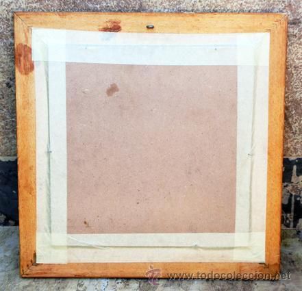 Antigüedades: SIMPÁTICO AZULEJO FIRMADO. DE LA ROSA. GRACIAS POR NO FUMAR. ENMARCADO. VALENCIA. - Foto 6 - 44455301