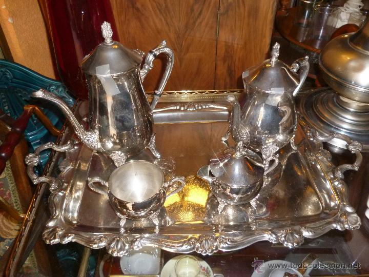 JUEGO DE CAFÉ PLATEADO (Antigüedades - Plateria - Varios)