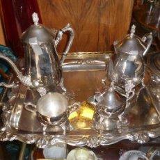 Antigüedades: JUEGO DE CAFÉ PLATEADO. Lote 44465170