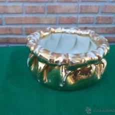 Antigüedades: MACETERO DE PORCELANA Y DORADO. Lote 44471836