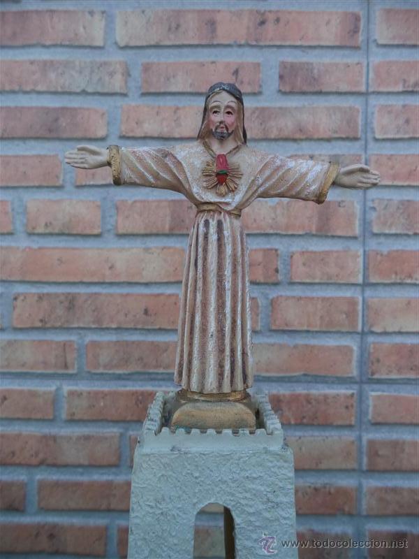 Antigüedades: cristo de resina - Foto 2 - 44472199