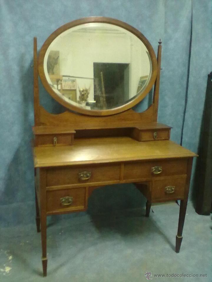 Mesa tocador caoba principios del xx para resta comprar for Antiguedades para restaurar