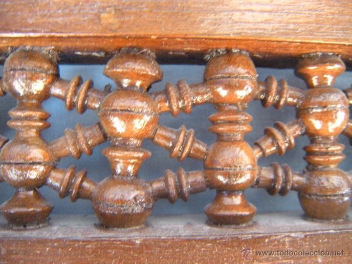 Antigüedades: PEQUEÑO ESPEJO CON TORNEADOS Y TARACEA - Foto 4 - 106546772