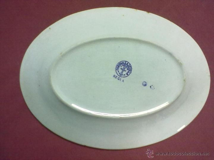 Antigüedades: FUENTE BANDEJA OVALADA PICKMAN S.A. SEVILLA CARTUJA REGLA - Foto 3 - 44517647