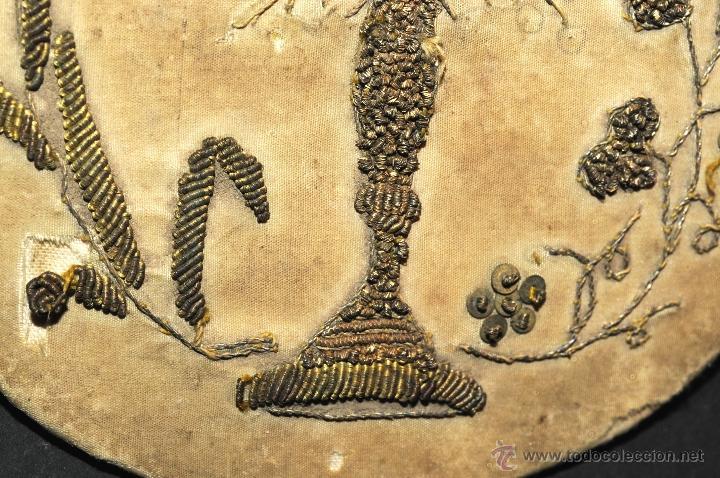 Antigüedades: ANTIGUA TAPA EN TELA BORDADO PARA CALIZ - Foto 3 - 44527665