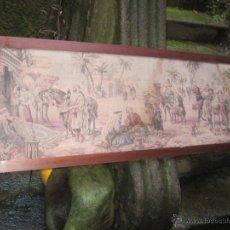 Antigüedades: TAPIZ GOBELINO ENMARCADO DE 143X47CM + MOLDURA - ESCENAS MORISCAS.. Lote 44528314