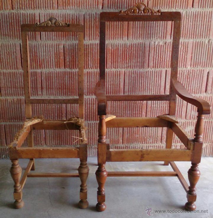 Sillon y silla antiguos para tapizar eran par comprar - Sillas y sillones clasicos ...