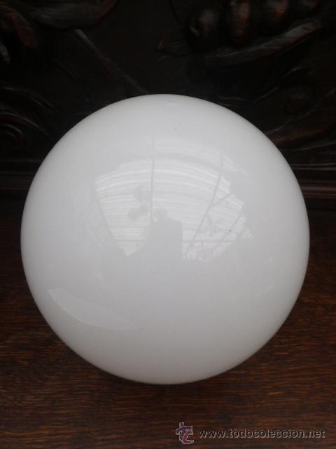 Tulipa de cristal blanco de bola para lampara o comprar for Tulipas para lamparas
