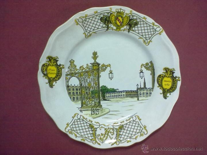 PLATO PLACE STANISLAS NANCY 1750 FIRMADO ¿HUCBAPPAGNAC? K G LUNEVILLE 84 FRANCE (Antigüedades - Porcelana y Cerámica - Francesa - Limoges)