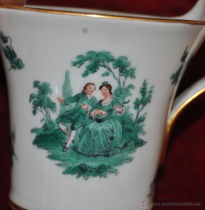 Antigüedades: INTERESANTE CONJUNTO DE CAFÉ EN PORCELANA ALEMANA DEL SIGLO XIX - Foto 6 - 44601663