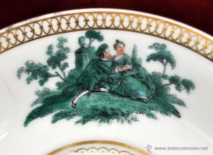 Antigüedades: INTERESANTE CONJUNTO DE CAFÉ EN PORCELANA ALEMANA DEL SIGLO XIX - Foto 16 - 44601663