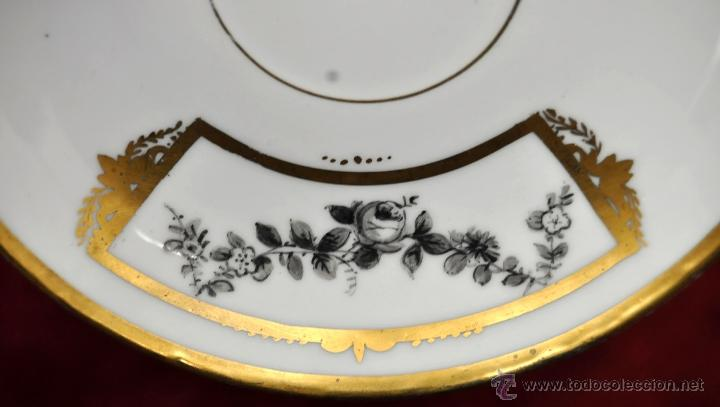 Antigüedades: TAZA EN PORCELANA ALEMANA DEL SIGLO XIX CON MOTIVOS PINTADOS - Foto 12 - 44603583