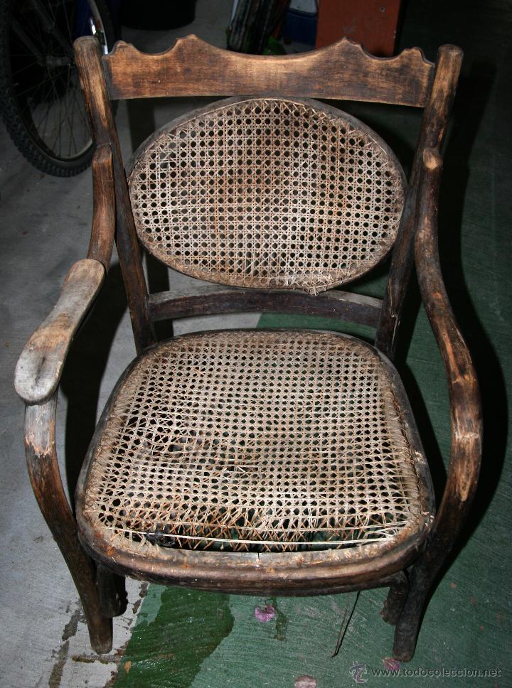 Sillon de madera y rejilla para restaurar comprar sillones antiguos en todocoleccion 44618690 - Sillones antiguos para restaurar ...