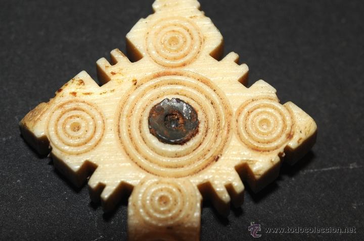 Antigüedades: CRUZ RELICARIO EN HUESO--MARFIL ??? - Foto 2 - 44631633