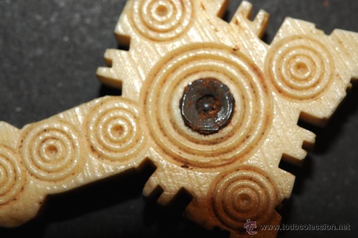 Antigüedades: CRUZ RELICARIO EN HUESO--MARFIL ??? - Foto 5 - 44631633