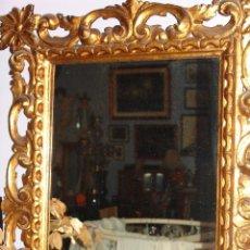 Antigüedades: PRECIOSO ESPEJO DE MADERA EN ORO FINO. Lote 44644893