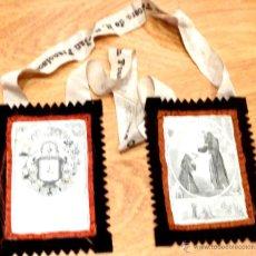 Antigüedades: ESCAPULARIO VENERABLE ORDEN TERCERA DE N.S.P. SAN FRANCISCO. Lote 44647959