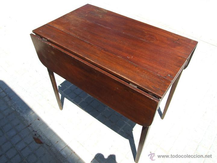 Mesa de caoba con alas abatibles comprar mesas antiguas for Mesa alas abatibles