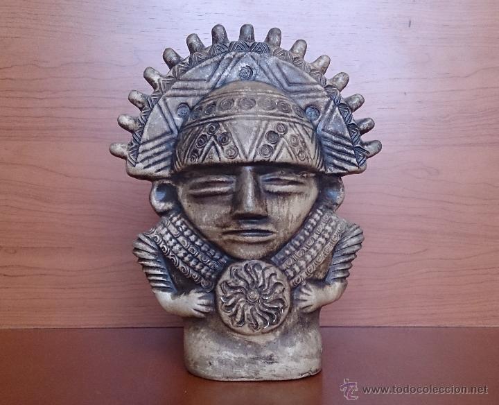 Figura en cer mica del dios inca inti dios del comprar for Figuras ceramica