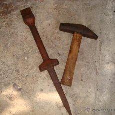 Antigüedades: YUNQUE PARA AFILAR LA GUADAÑA. Lote 44676855