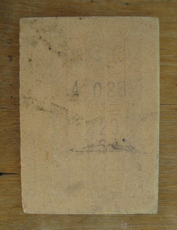 Antigüedades: AZULEJO DE CERÁMICA ANTIGUO AVE MARIA PINTADO A MANO CON FIRMA - Foto 2 - 44680158