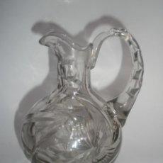 Antigüedades: JARRA CRISTAL TALLADO DE LA GRANJA. Lote 44693099