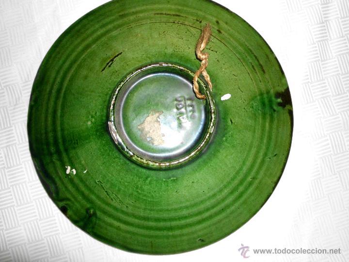 Antigüedades: Plato de cerámica vidriada Tito Ubeda - Foto 2 - 44693195