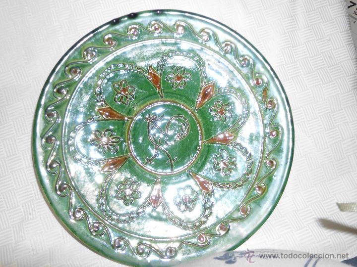 PLATO DE CERÁMICA VIDRIADA FIRMADO ALMARZA (Antigüedades - Porcelanas y Cerámicas - Úbeda)