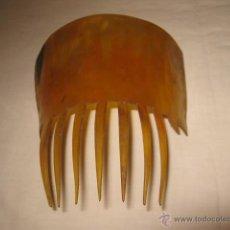 Antigüedades: ANTIGUA PEINETA DE CAREY. MEDIDA SIN PUNTAS: 11,5 X 6,5 CMS.. Lote 44694804