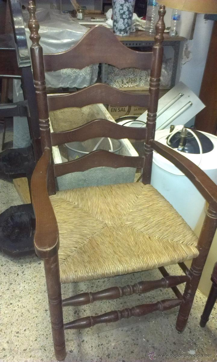 R stico sill n de epoca madera maciza noble comprar for Sillones rusticos de madera