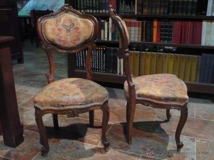 Pareja de sillas rococo barrocas profusamente comprar - Restaurar sillas antiguas ...