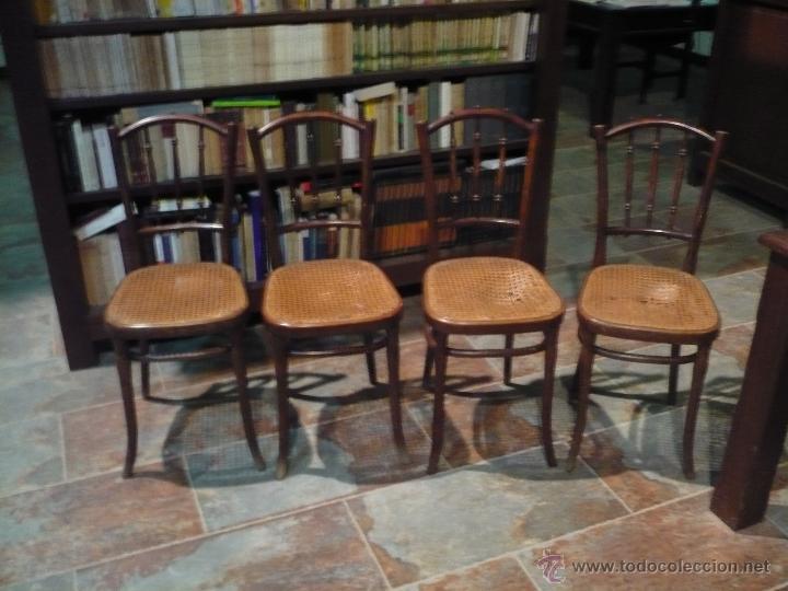 4 sillas thonet originales con sello y etiqueta comprar - Restaurar sillas antiguas ...