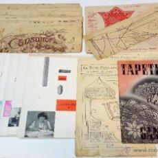 Antigüedades: LOTE REVISTAS Y SUPLEMENTOS DE LABORES, GANCHILLO Y CORTE Y CONFECCION. VER DESCRIPCION.. Lote 44709800