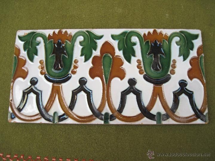 Antigüedades: LOTE DE DOS AZULEJOS ANTIGUOS DE SEVILLA. PPOS.S/XX. HIJO DE J. MENSAQUE. AZULEJO. - Foto 2 - 44725332